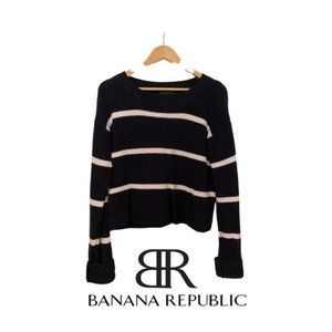 Banana Republic Stripped Knit Sweater Size S